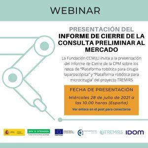 Webinar de presentación del Informe de Cierre de la Consulta Preliminar al Mercado