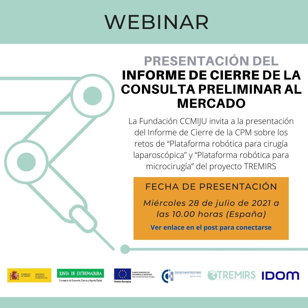 Webinar on the final report related to Preliminary Market Consultation